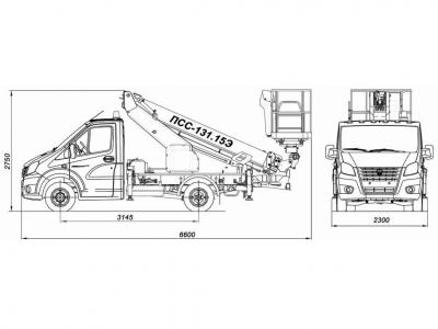 ПСС-131.15Э на шасси ГАЗ-A21R22, ГАЗ-A21R23
